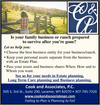 Is your family business or ranch prepared to survive after you're gon?