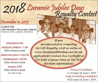 Laramie Jubilee Days Royalty Contest!