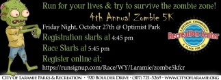 Run for your lives & try to survive the zombie zone