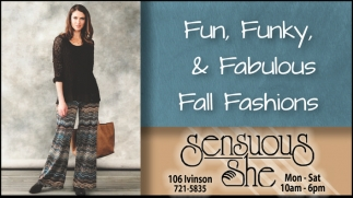Fun, Funky and Fabulous Fall Fashions!