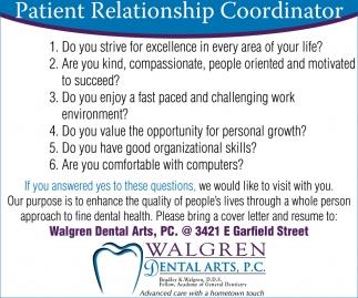 Patient Relationship Coordinator