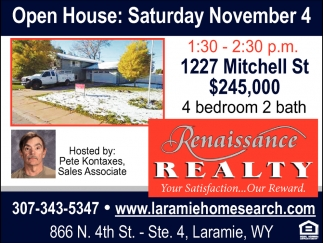 Open House: Saturday November 4