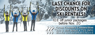 Last Chance For Discounts On Ski Rentals!