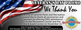 Veteran's Day Promo