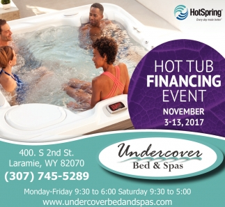 Hot Tub Financing Event
