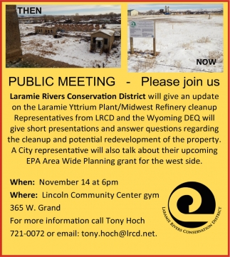 Public Meeting - Please Join Us