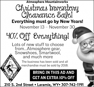 Christmas Inventory Clearance Sale!