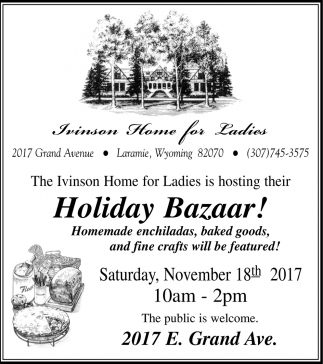 Holiday Bazaar!