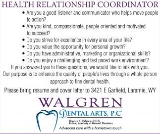 Health Relationship Coordinator