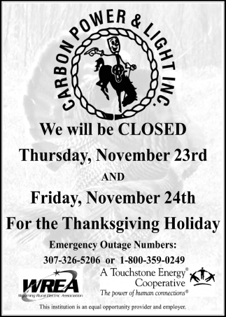 We will be closed!