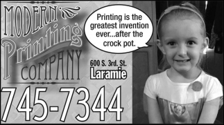 Printing is the greatest invention ever... after the crock pot