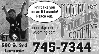 Print Like you mean it Laramie!