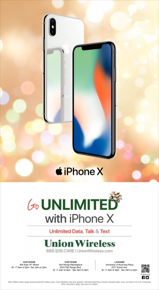 Unlimited wiith Iphone X