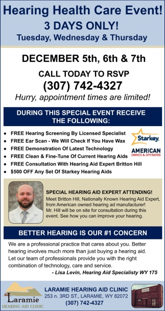 Hearing Health Care Event!