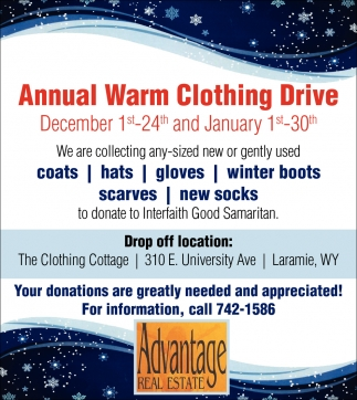 Annual Warm Clothing Drive