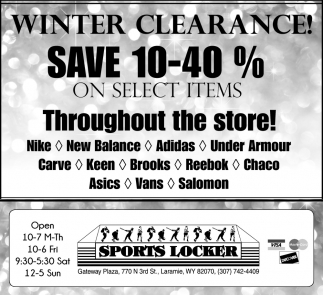 Winter Clearance!