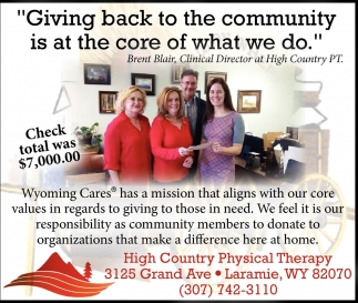 Giving back to the community is at the core of what we do