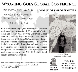 Wyoming Goes Global Conference