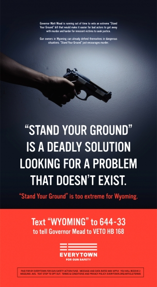Stand your ground is a deadly solution looking for a problem that doesn't exist