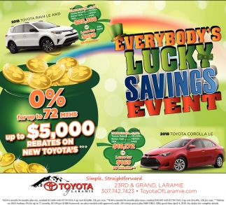 Everybody Lucky Savings Event