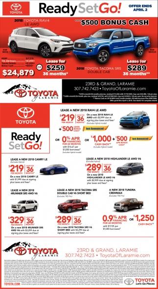 Toyota Of Laramie >> Ready Set Go Toyota Of Laramie Laramie Wy