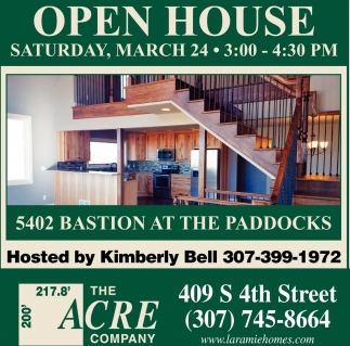 Open House Saturday, March 24
