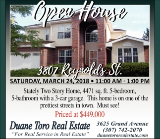 Open House 3807 Reynolds St.