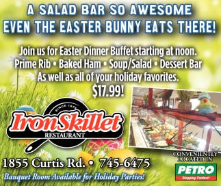 A Salad Bar so Awesome even the Easter Bunny Eats Here