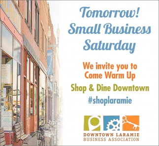 Tomorrow! Small Business Saturday