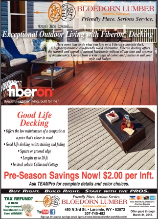 Exceptional Outdoor Living With Fiberon Decking