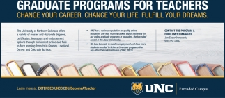 Graduate programs for techers