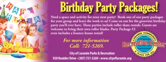 Birthday Party Packages!