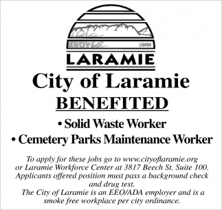 Solid waste worker/Cemetery parks maintenance worker