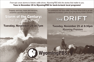 Tune in November 29 to Wyoming PBS for back-to-back local programs