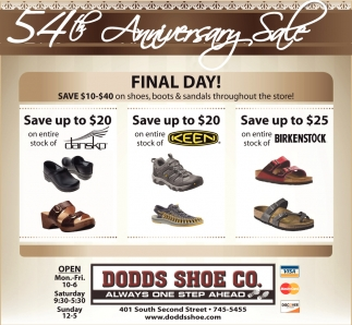 54th Anniversary Sale