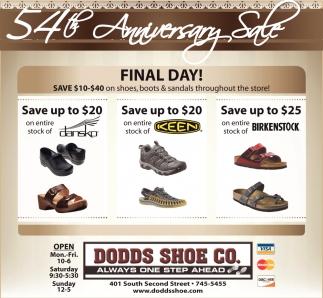 54th Anniversary Sale