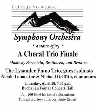 A Choral Trio Finale
