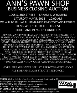Business Closing Auction