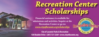 Recreation Center Schollarships