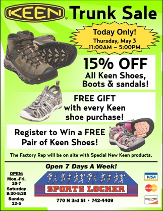 Register to Win a Free Pair of Keen Shoes!