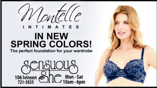 Montelle Intimates in New Spring Colors!