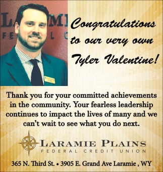 Congratulations to our very own Tyler Valentine!