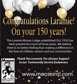 Congratulations Laramie!