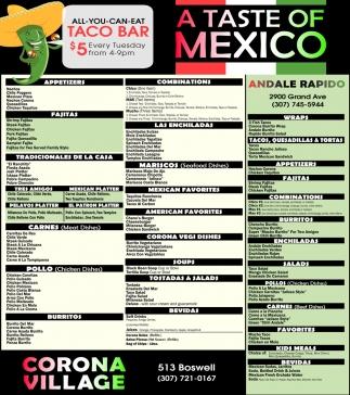 A Taste of Mexico