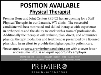 Position Available Physical Therapist