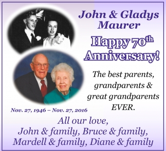 John and Gladys Maurer