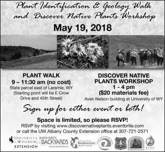 Plant Identification & Geology Walk and Discover Native Plants Workshop