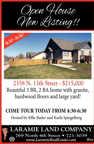 Open House New Listing!!