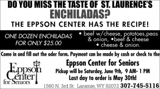 Do You Miss the Taste of St. Laurence's Enchiladas?