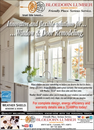 Innovative and Flexible Solutions for Windows & Door Remodeling